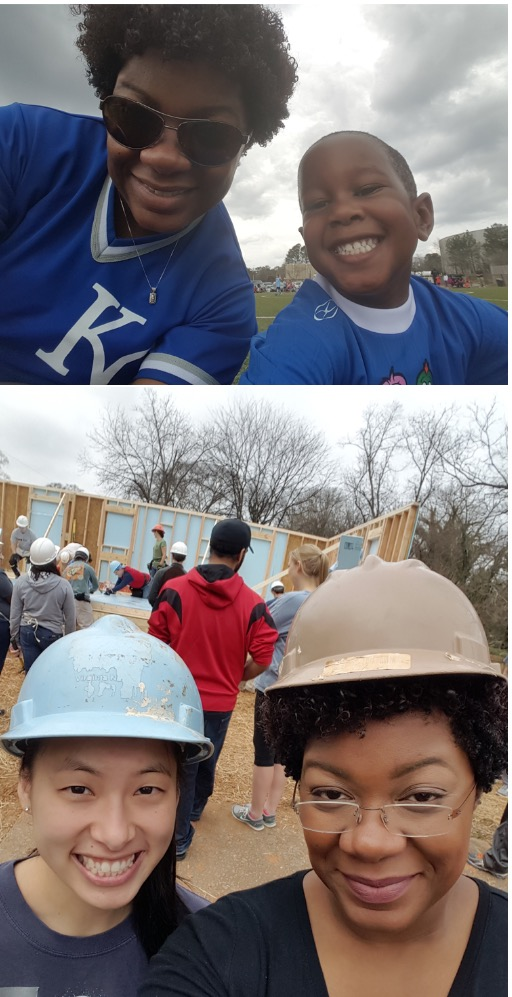 From coaching her 4 year old son, David, on his soccer team. To Teaming up with consultants, like Jena on Habitat for Humanity, we are convinced that Domonique really can do it all!