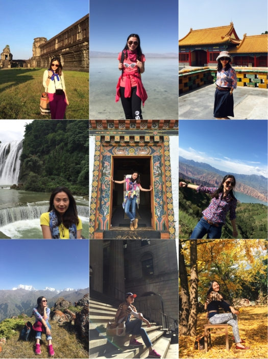 """Pictured above is Lindy in her travels around the world. She believes in a """"work hard, play harder"""" mentality and uses her Protiviti travel and annual leaves to explore"""