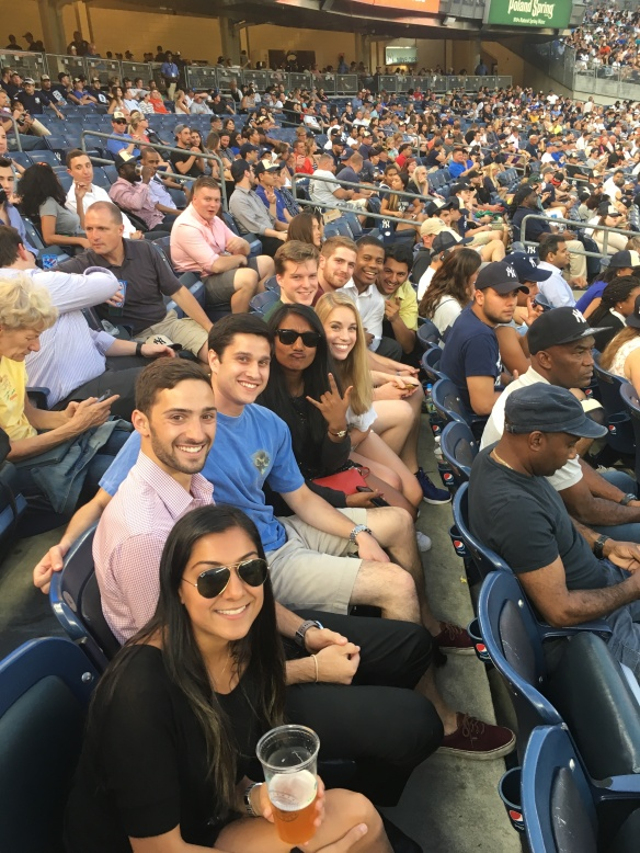 Our New York Interns proudly cheered on The Yankees!