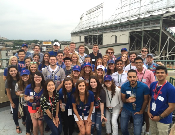 Chicago Interns Cheering on The Cubs