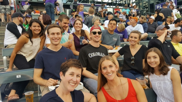 Our Denver Interns were joined by their advisors to Cheer on the Rockies