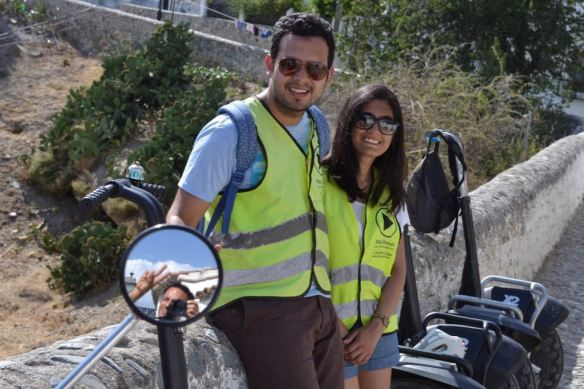 Pictured above is Krithika during a Segway tour in Granada this past summer