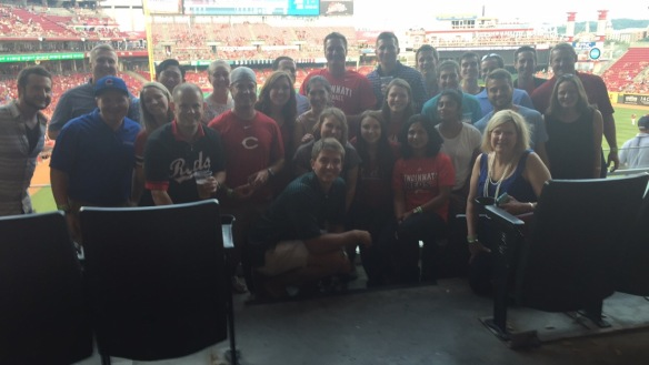 The Cincinnati Interns cheering on The Reds