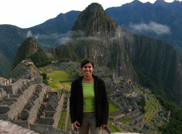 Pictured above is Ronita at Macchu Pichu in Peru!