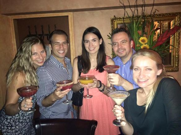 Pictured above from left to right; Sarah, her husband Scot (also from Protiviti Hong Kong), Priscilla from Protiviti NY, Enrique from Protiviti Chicago, and Melissa from Protiviti London. Everyone was in town for different reasons, but they all managed to find time to get together for a quick drink!