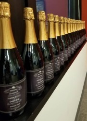 Personalized Champagne bottles for all the Metro DC Promotes