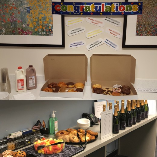Phoenix celebrated with Donuts while Atlanta brought in a full breakfast spread!